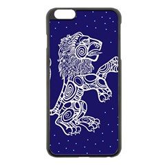 Leo Zodiac Star Apple Iphone 6 Plus/6s Plus Black Enamel Case by Mariart