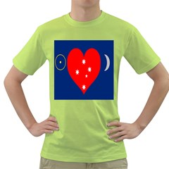 Love Heart Star Circle Polka Moon Red Blue White Green T Shirt by Mariart