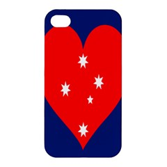 Love Heart Star Circle Polka Moon Red Blue White Apple Iphone 4/4s Hardshell Case by Mariart