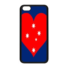 Love Heart Star Circle Polka Moon Red Blue White Apple Iphone 5c Seamless Case (black)