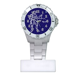 Libra Zodiac Star Plastic Nurses Watch by Mariart
