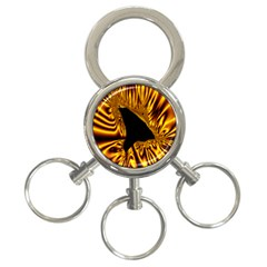 Hole Gold Black Space 3 Ring Key Chains by Mariart