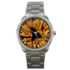 Hole Gold Black Space Sport Metal Watch by Mariart