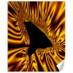 Hole Gold Black Space Canvas 16  X 20   by Mariart