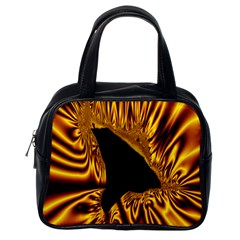 Hole Gold Black Space Classic Handbags (one Side) by Mariart