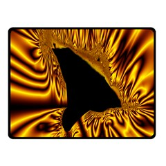 Hole Gold Black Space Fleece Blanket (small) by Mariart