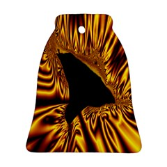 Hole Gold Black Space Bell Ornament (two Sides) by Mariart