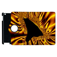Hole Gold Black Space Apple Ipad 3/4 Flip 360 Case by Mariart