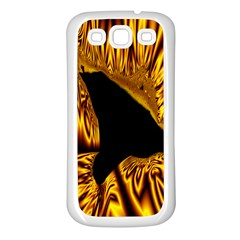 Hole Gold Black Space Samsung Galaxy S3 Back Case (white)