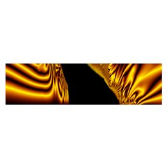 Hole Gold Black Space Satin Scarf (oblong)