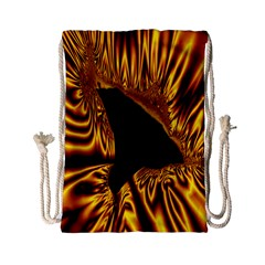 Hole Gold Black Space Drawstring Bag (small) by Mariart