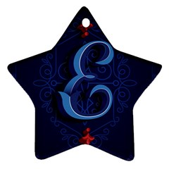 Marquis Love Dope Lettering Blue Red Alphabet E Ornament (star) by Mariart