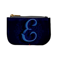 Marquis Love Dope Lettering Blue Red Alphabet E Mini Coin Purses by Mariart