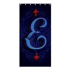 Marquis Love Dope Lettering Blue Red Alphabet E Shower Curtain 36  X 72  (stall)  by Mariart