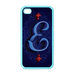 Marquis Love Dope Lettering Blue Red Alphabet E Apple Iphone 4 Case (color) by Mariart