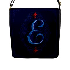 Marquis Love Dope Lettering Blue Red Alphabet E Flap Messenger Bag (l)  by Mariart
