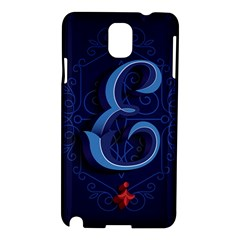 Marquis Love Dope Lettering Blue Red Alphabet E Samsung Galaxy Note 3 N9005 Hardshell Case by Mariart