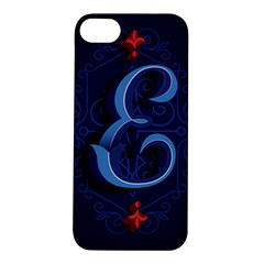 Marquis Love Dope Lettering Blue Red Alphabet E Apple Iphone 5s/ Se Hardshell Case