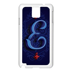 Marquis Love Dope Lettering Blue Red Alphabet E Samsung Galaxy Note 3 N9005 Case (white) by Mariart