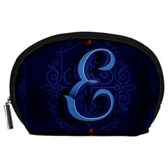Marquis Love Dope Lettering Blue Red Alphabet E Accessory Pouches (large)  by Mariart