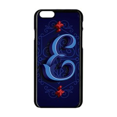 Marquis Love Dope Lettering Blue Red Alphabet E Apple Iphone 6/6s Black Enamel Case by Mariart