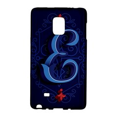 Marquis Love Dope Lettering Blue Red Alphabet E Galaxy Note Edge by Mariart