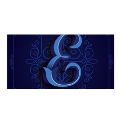 Marquis Love Dope Lettering Blue Red Alphabet E Satin Wrap by Mariart