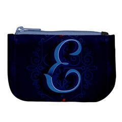 Marquis Love Dope Lettering Blue Red Alphabet E Large Coin Purse by Mariart