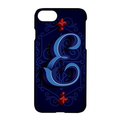 Marquis Love Dope Lettering Blue Red Alphabet E Apple Iphone 7 Hardshell Case by Mariart