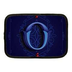 Marquis Love Dope Lettering Blue Red Alphabet O Netbook Case (medium)  by Mariart