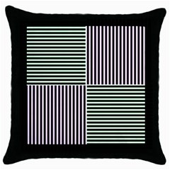 Mccollough Test Image Colour Effec Line Throw Pillow Case (black) by Mariart