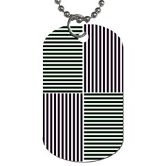 Mccollough Test Image Colour Effec Line Dog Tag (two Sides) by Mariart
