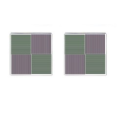 Mccollough Test Image Colour Effec Line Cufflinks (square) by Mariart