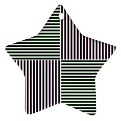 Mccollough Test Image Colour Effec Line Star Ornament (two Sides) by Mariart