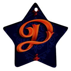 Marquis Love Dope Lettering Blue Red Orange Alphabet P Ornament (star) by Mariart