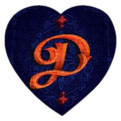 Marquis Love Dope Lettering Blue Red Orange Alphabet P Jigsaw Puzzle (heart) by Mariart