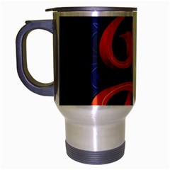 Marquis Love Dope Lettering Blue Red Orange Alphabet P Travel Mug (silver Gray) by Mariart