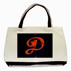 Marquis Love Dope Lettering Blue Red Orange Alphabet P Basic Tote Bag (two Sides) by Mariart