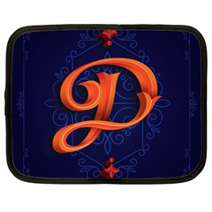 Marquis Love Dope Lettering Blue Red Orange Alphabet P Netbook Case (large) by Mariart