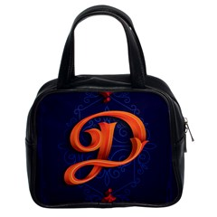 Marquis Love Dope Lettering Blue Red Orange Alphabet P Classic Handbags (2 Sides) by Mariart