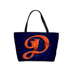 Marquis Love Dope Lettering Blue Red Orange Alphabet P Shoulder Handbags by Mariart