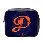 Marquis Love Dope Lettering Blue Red Orange Alphabet P Mini Toiletries Bag 2-Side Front
