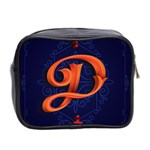 Marquis Love Dope Lettering Blue Red Orange Alphabet P Mini Toiletries Bag 2-Side Back