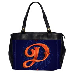 Marquis Love Dope Lettering Blue Red Orange Alphabet P Office Handbags (2 Sides)  by Mariart