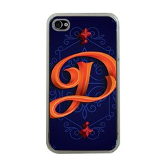 Marquis Love Dope Lettering Blue Red Orange Alphabet P Apple Iphone 4 Case (clear) by Mariart