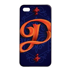 Marquis Love Dope Lettering Blue Red Orange Alphabet P Apple Iphone 4/4s Seamless Case (black) by Mariart