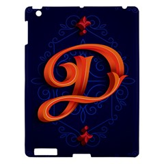 Marquis Love Dope Lettering Blue Red Orange Alphabet P Apple Ipad 3/4 Hardshell Case by Mariart