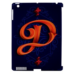 Marquis Love Dope Lettering Blue Red Orange Alphabet P Apple Ipad 3/4 Hardshell Case (compatible With Smart Cover) by Mariart