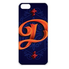Marquis Love Dope Lettering Blue Red Orange Alphabet P Apple Iphone 5 Seamless Case (white) by Mariart