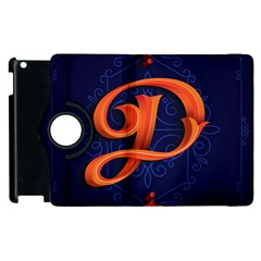 Marquis Love Dope Lettering Blue Red Orange Alphabet P Apple Ipad 3/4 Flip 360 Case by Mariart